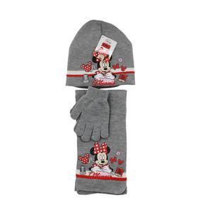 Disney Minnie Mouse Winter Set 3-tlg. Mütze, Schal & Handschuhe Grau