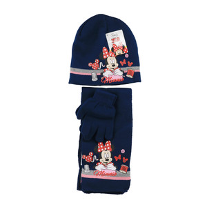 Disney Minnie Mouse Winter Set 3-tlg. Mütze, Schal & Handschuhe Dunkelblau