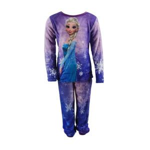 Disney Frozen - Die Eiskönigin Fleece Schlafanzug Pyjama Lila