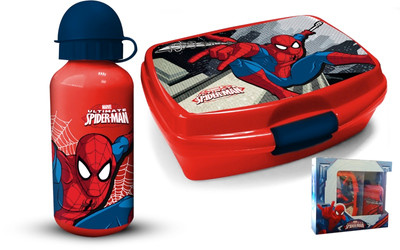 Marvel Spiderman Brotdose + Alu-Trinkflasche Lunch-Set