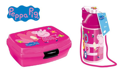 Peppa Pig Wutz Lunch-Set  Brotdose + Trinkflasche