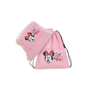 Disney Minnie Mouse SET Sommer-Mütze + Beutel Rosa