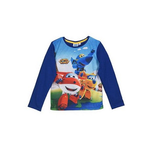 Super Wings Kinder Jungen Langarm-Shirt