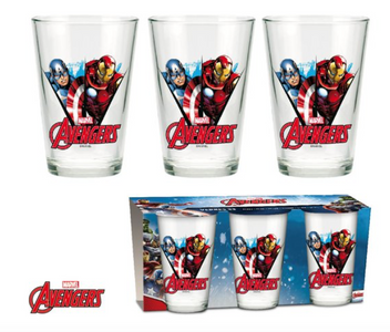 Marvel Avengers Captain America & Iron Man Glas Gläser 3er Set