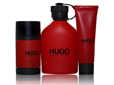 Boss Hugo Red 150 ml EDT + 75 ml Deo Stick + 50 ml Duschgel