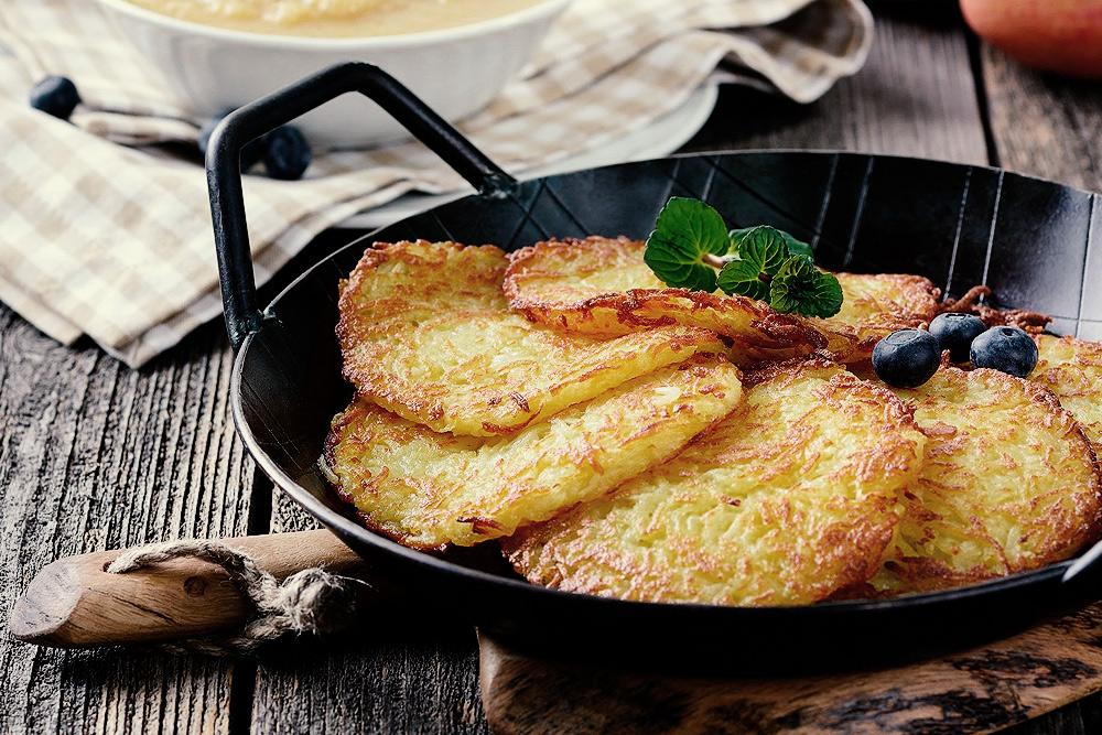 Kartoffelpuffer mit Kernöl-Dip