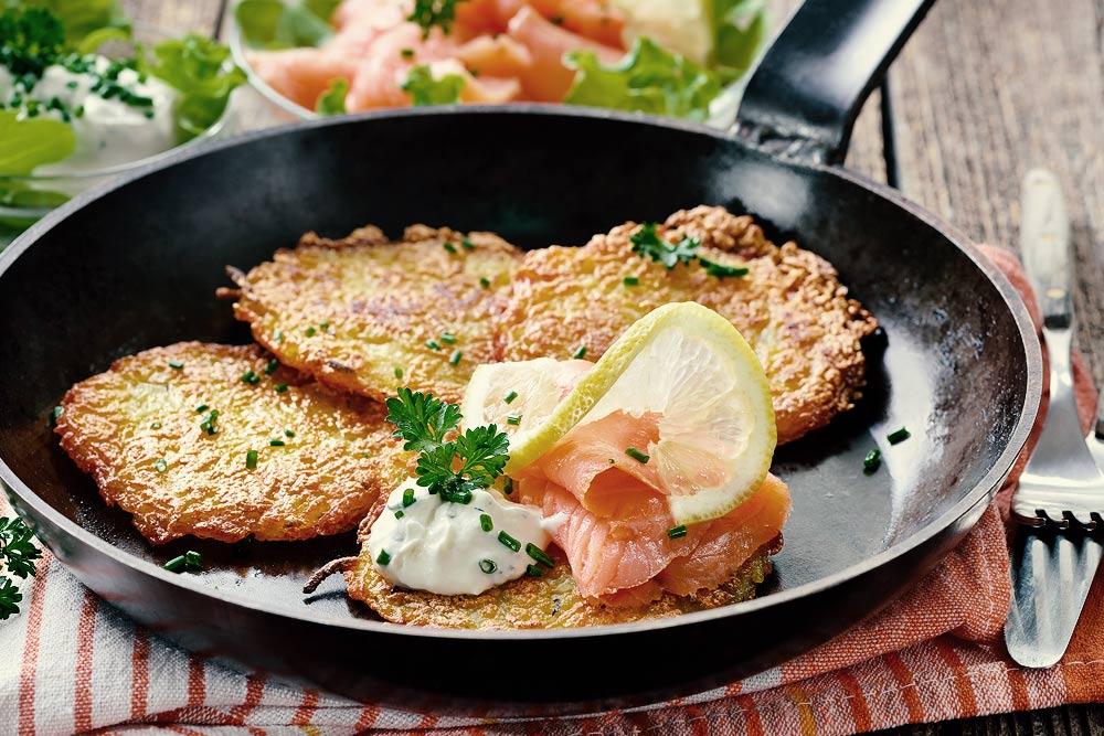 Sengers Kartoffelpuffer mit Räucherlachs Rezept