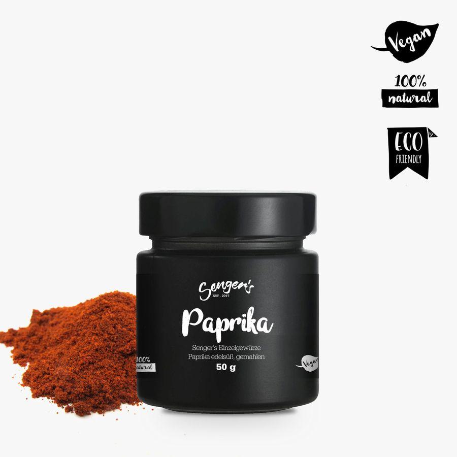 """Sengers Einzelgewürz """"Paprika Edelsüß, gemahlen"""" - geprüfte Qualität ohne Zusatzstoffe - Natur Pur - aus Österreich"""