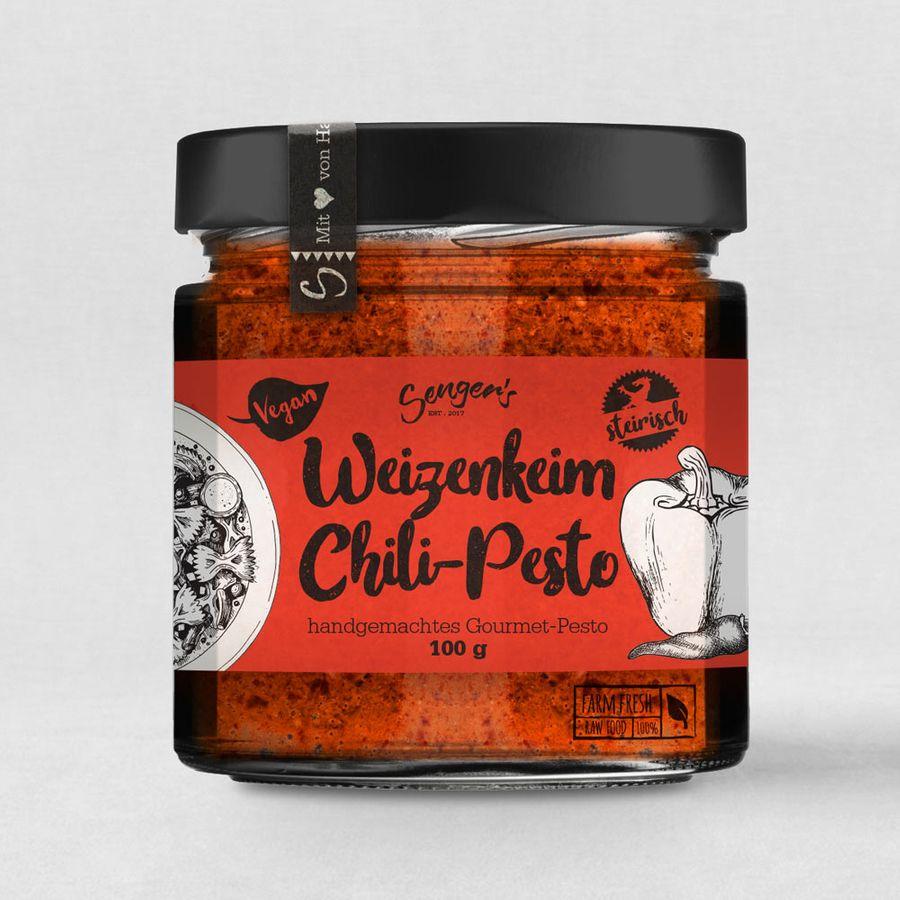 Sengers veganes Weizenkeim Pesto Chili