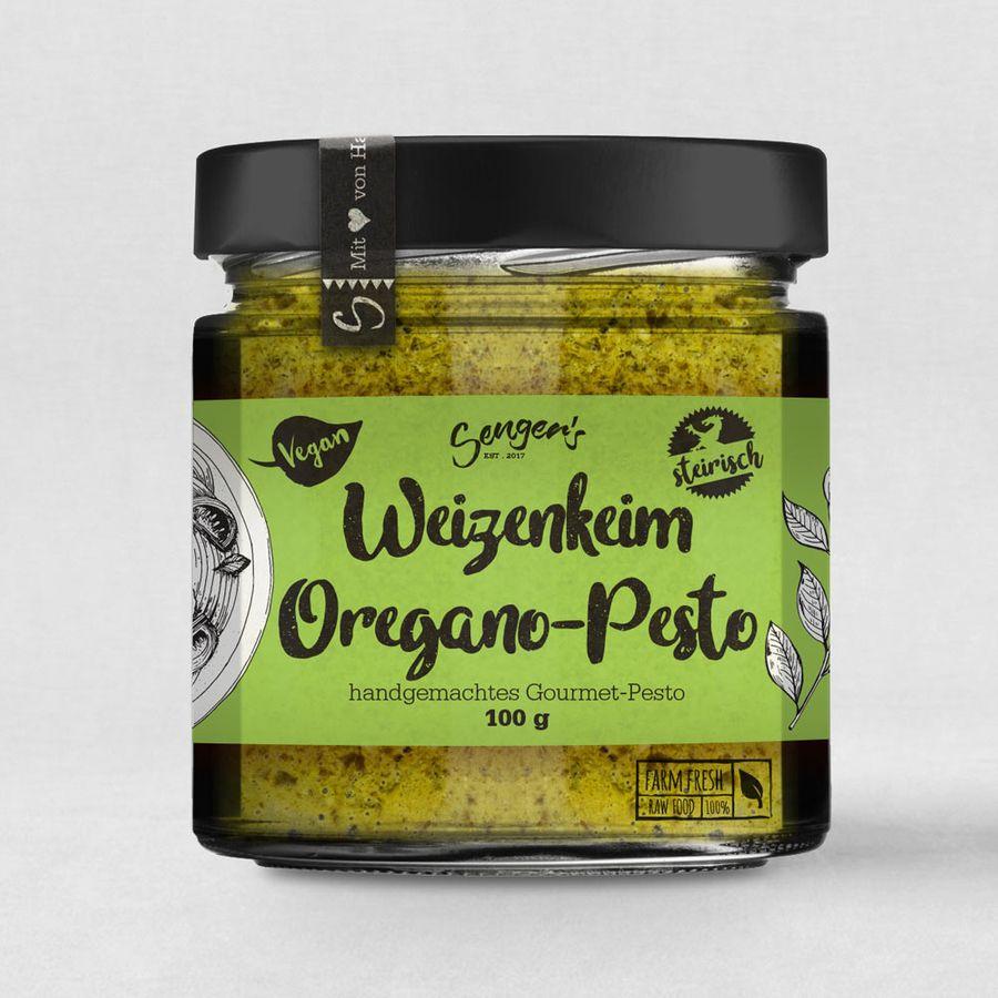 Sengers veganes Weizenkeim Pesto Oregano
