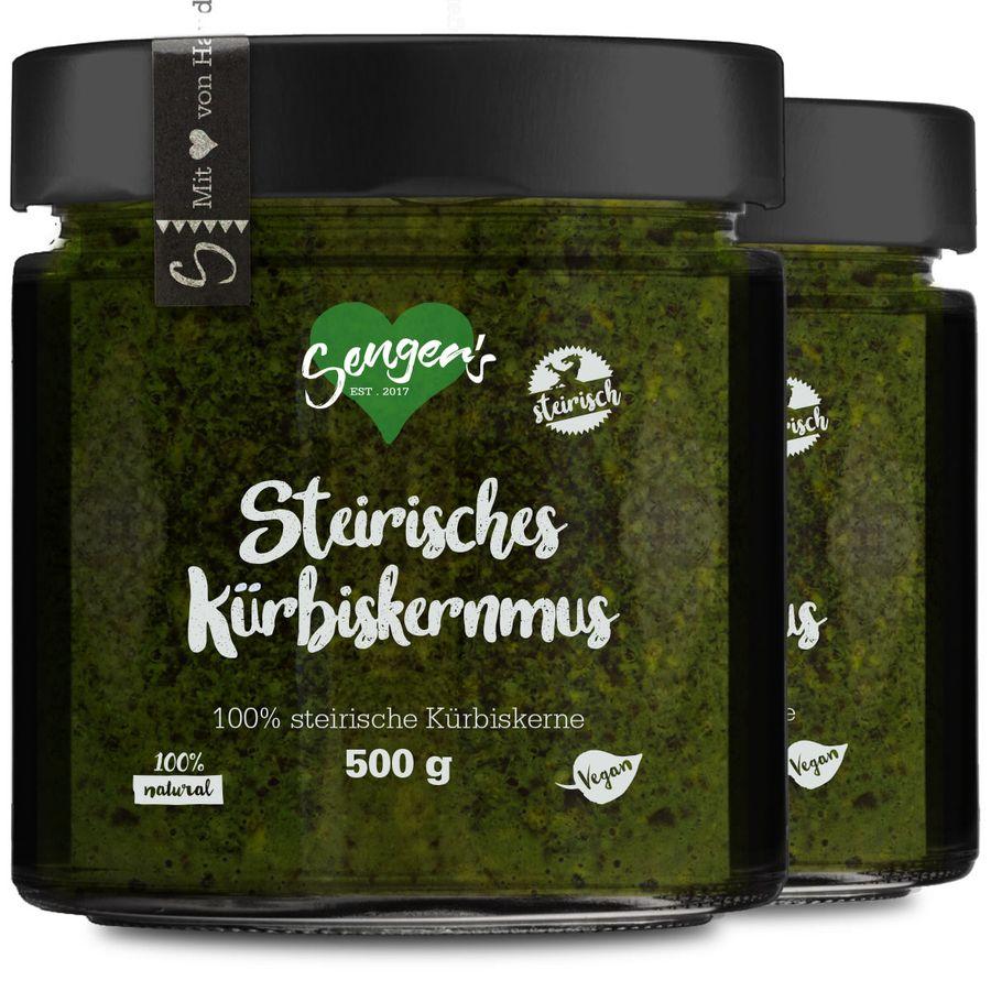 1 kg Steirisches Kürbiskernmus 100% steirische Kürbiskerne ohne Zucker, Salz und Zusätze Vegan, Rohkost