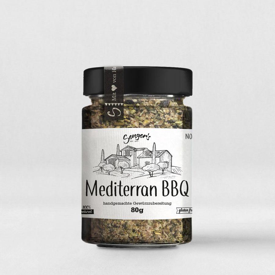"""Sengers Gewürzmischung """"Mediterran BBQ"""" Gewürzglas - 80 g  - natürliches Grillgewürz mit dem Geschmack des Südens - Natur Pur - aus Österreich"""