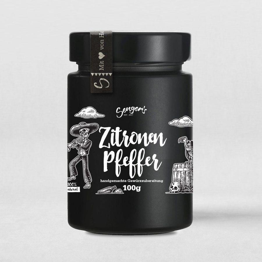 "Sengers BBQ Gewürzmischung ""Zitronen Pfeffer"" Premium-Gewürz 100g"