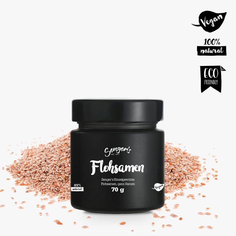 Sengers Einzelgewürz Flohsamen Premium-Gewürz - ganze Samen - geprüfte Qualität ohne Zusatzstoffe - Natur Pur - aus Österreich