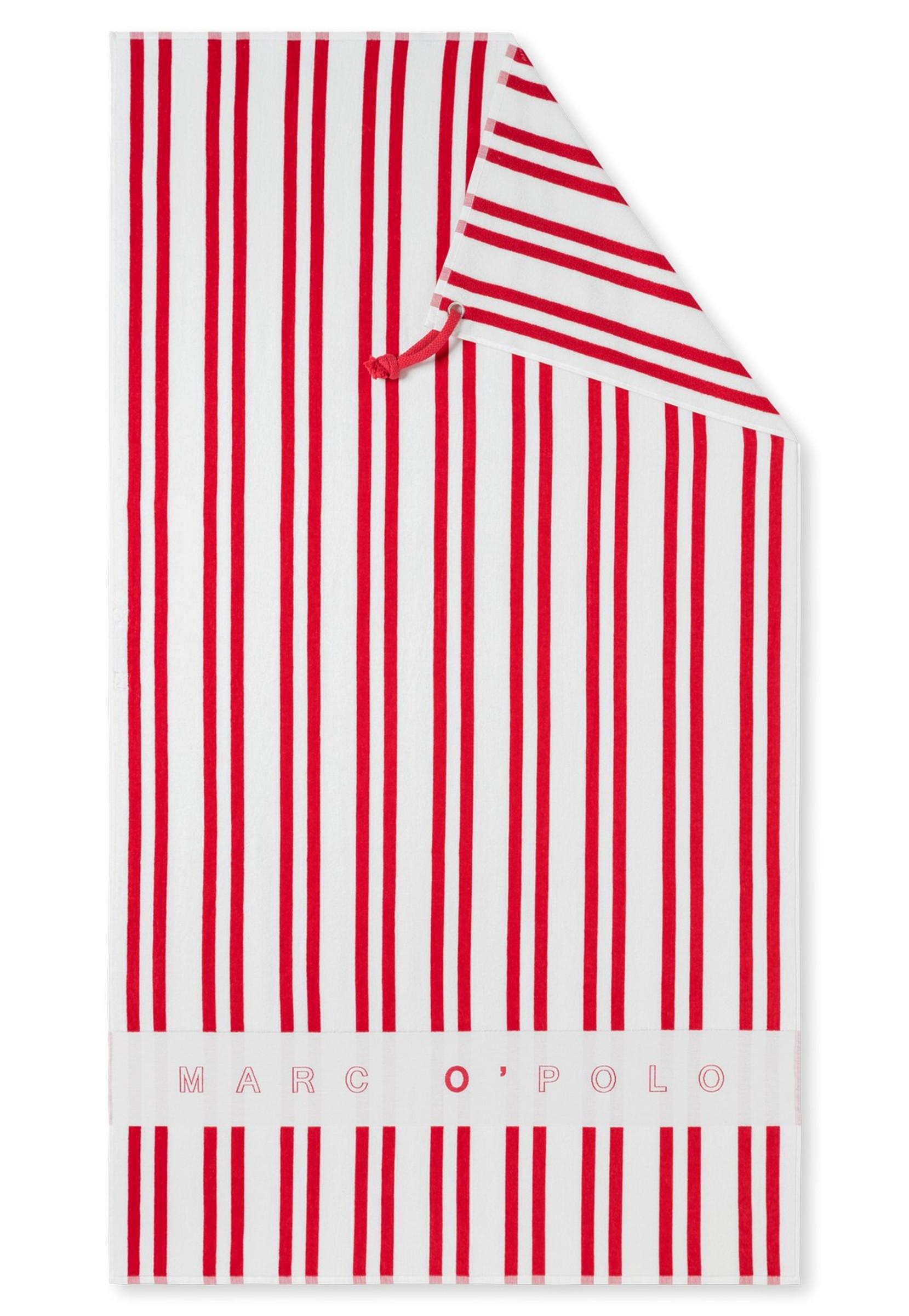 Marc O/'Polo Strandlaken Emblem rot Strandtuch Badetuch Saunatuch 100x180 cm