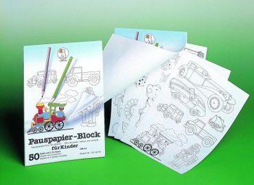 Pauspapier Block inklusive 5 Vorlagen