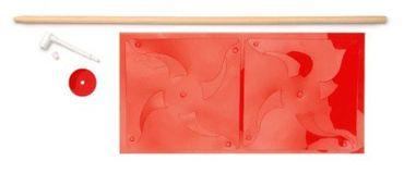 Windrad Set mit Holzstab Rot