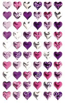 Sticker Crystal Herzen klein