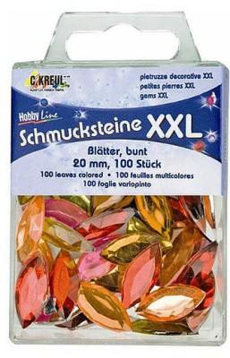 Schmucksteine XXL Blätter bunt
