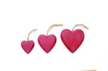 Herz Holz rot klein