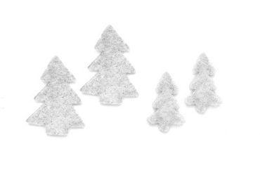 Filz Baum Box weiß