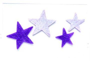 Filz Stern Box lila weiß
