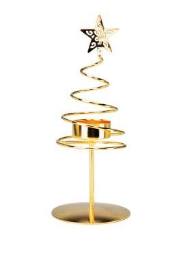 Kerzenhalter Spiralförmig Gold