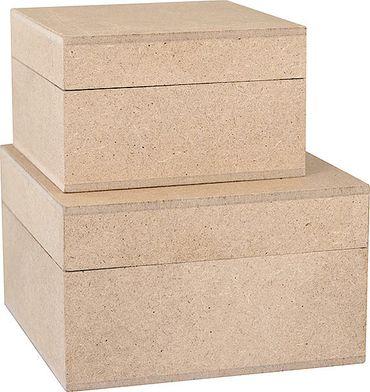 Holzschachteln Quadratisch