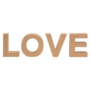 Pappbuchstaben LOVE