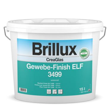 Brillux CreaGlas Gewebe-Finish ELF 3499 weiß SM 15 Liter