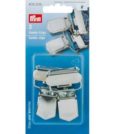 PRYM Combi-Clips ST 30 mm silberfarbig