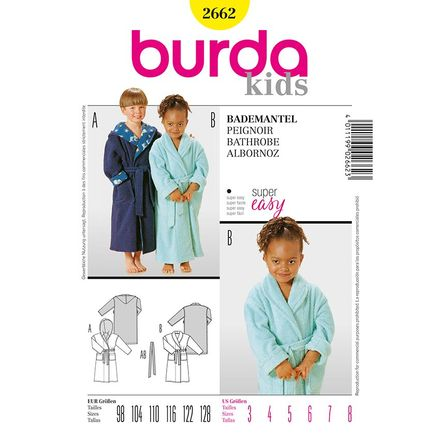 Burda Schnittmuster - 2662 - Kinder-Bademantel