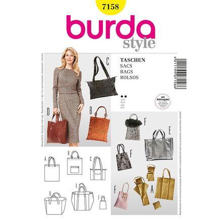 Burda Schnittmuster - 7158 - Accessoires Tasche, Shopper