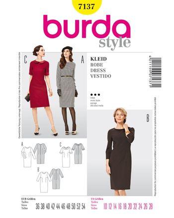 Burda Schnittmuster - 7137 - Kleid