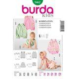 Burda Schnittmuster - 9462 - Kinder, Baby Kleid, Höschen, Overall 001