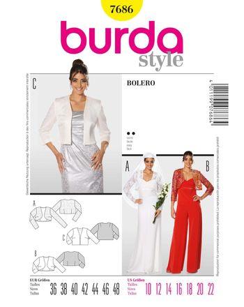 Burda Schnittmuster - 7686 - Damen Bolero und Kurzjacke