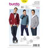 Burda Schnittmuster - 7734 - Herren Jacke, Kapuzenjacke, Sweatshirt 001