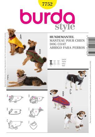 Burda Schnittmuster - 7752 - Hundemantel