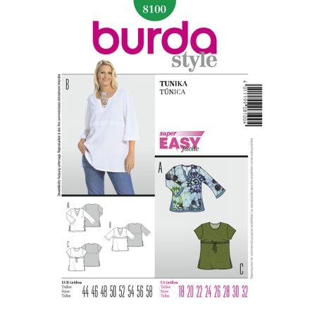 Burda Schnittmuster - 8100 - Tunika
