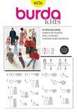 Burda Schnittmuster - 8576 - Kinder Puppenkleidung 001