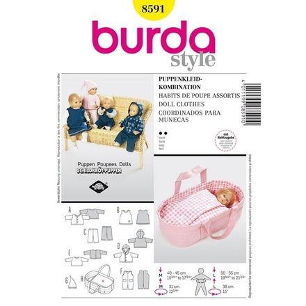 Burda Schnittmuster - 8591 - Kinder Puppenkleider
