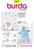 Burda Schnittmuster - 9478 - Kinder Baby Kombination 001