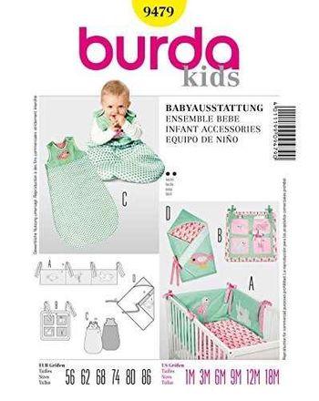 Burda Schnittmuster - 9479 - Kinder Babyausstattung