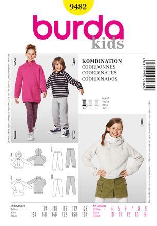 Burda Schnittmuster - 9482 - Kinder Unisex-Kombination