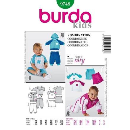 Burda Schnittmuster - 9748 - Kinder Kombination