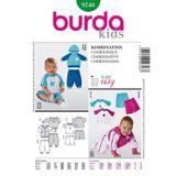 Burda Schnittmuster - 9748 - Kinder Kombination 001