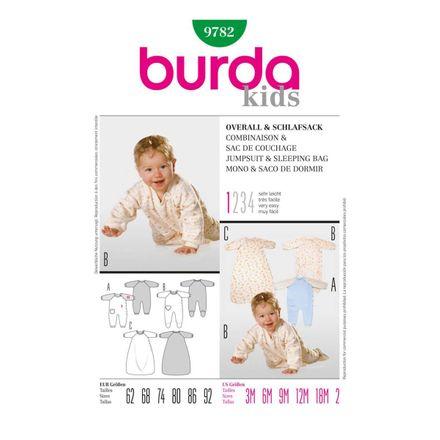 Burda Schnittmuster - 9782 - Kinder, Baby-Overall und Schlafsack