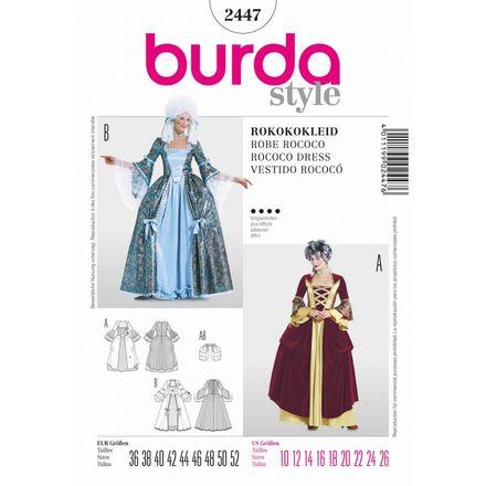Burda Schnittmuster - 2447 - Damen Kostüm Rokokokleid
