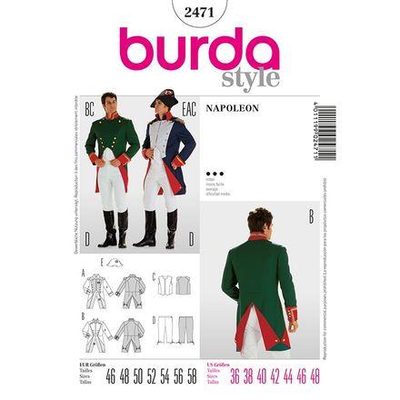 Burda Schnittmuster - 2471 - Herren Kostüm Napoleon