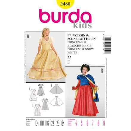 Burda Schnittmuster - 2480 - Kinder Prinzessin, Schneewittchen
